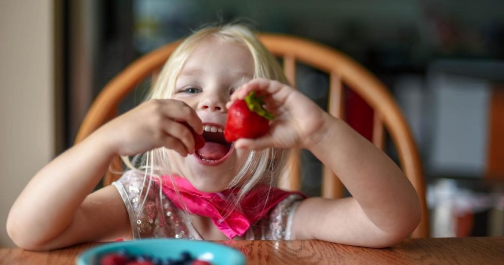 happy-little-girl-eating-fruit-at-the-kitchen-table-she-is-wearing-dress-up-clothes-preschooler-kids_t20_gRJEQG-min_opt